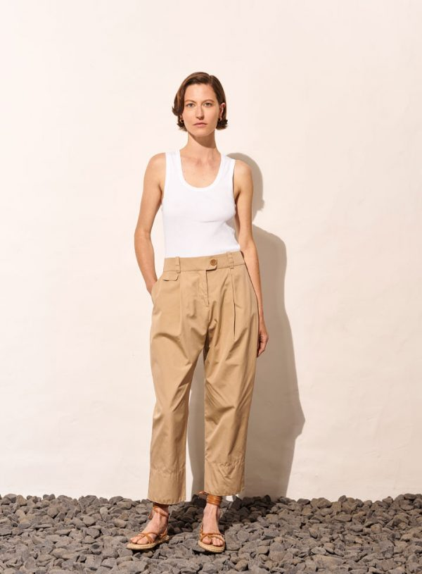 High Waisted Tapared Trousers