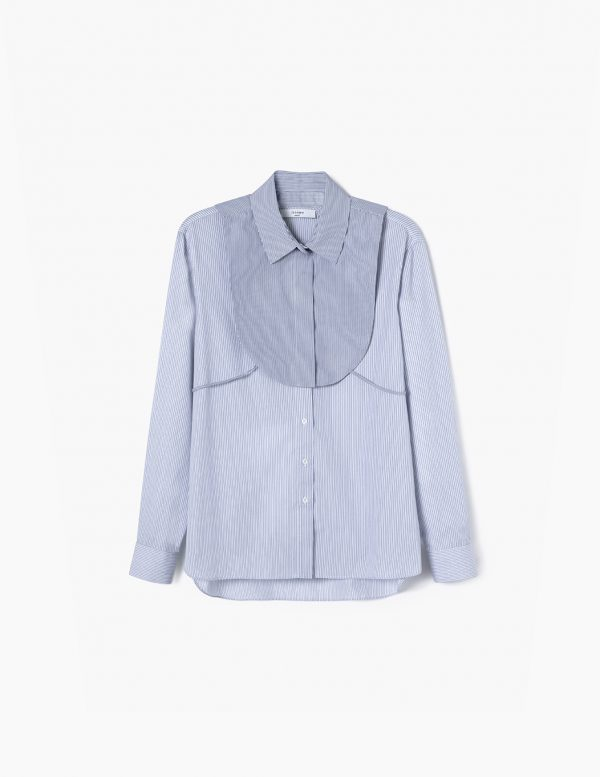 tailored stripes shirt A LINE clothing