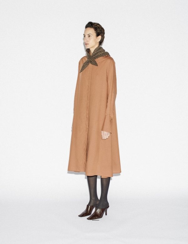 flared shirtdress A LINE Clothing