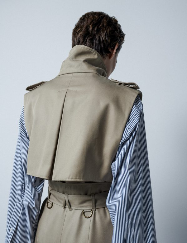 trench vest A LINE clothing