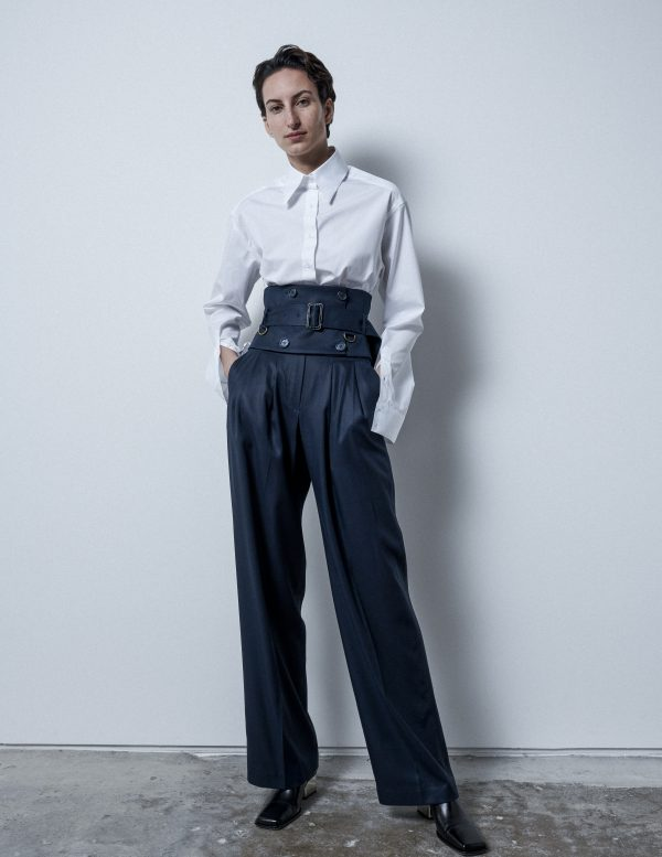 blue trousers A LINE clothing