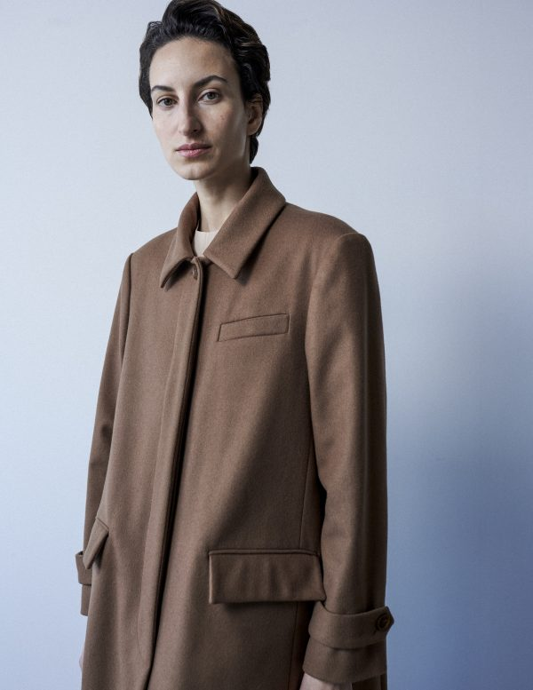 brown coat A LINE clothing